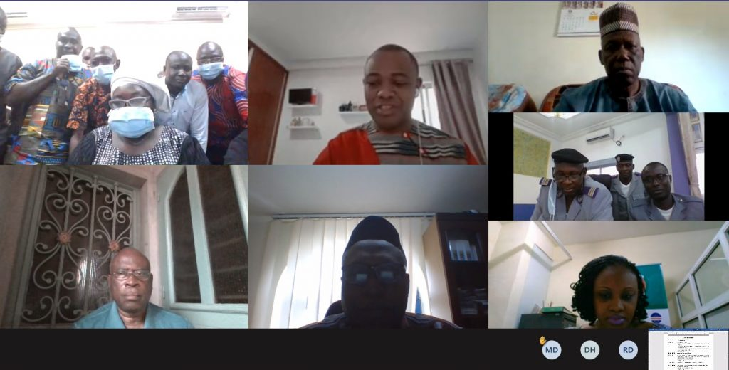 Virtual training for National Approval Committee (NAC) Members of Guinee on  the ETLS, 12th – 14th October 2020.