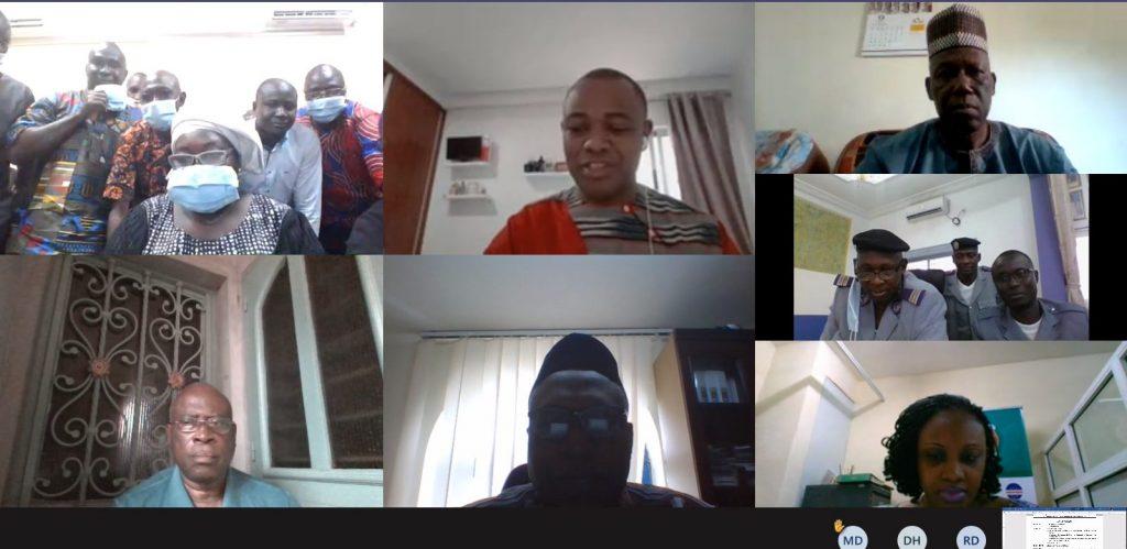 Formação virtual para os membros do Comité Nacional de Aprovação (CNA) da Guiné de 12 a 14 de Outubro de 2020.