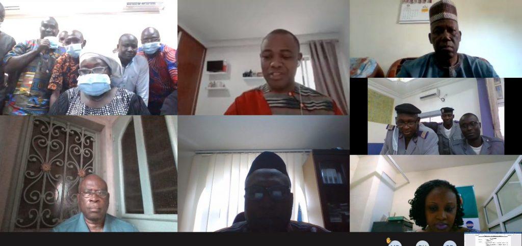 Formation virtuelle des membres du CNA de la Guinée sur le SLE, 12 -14 octobre 2020